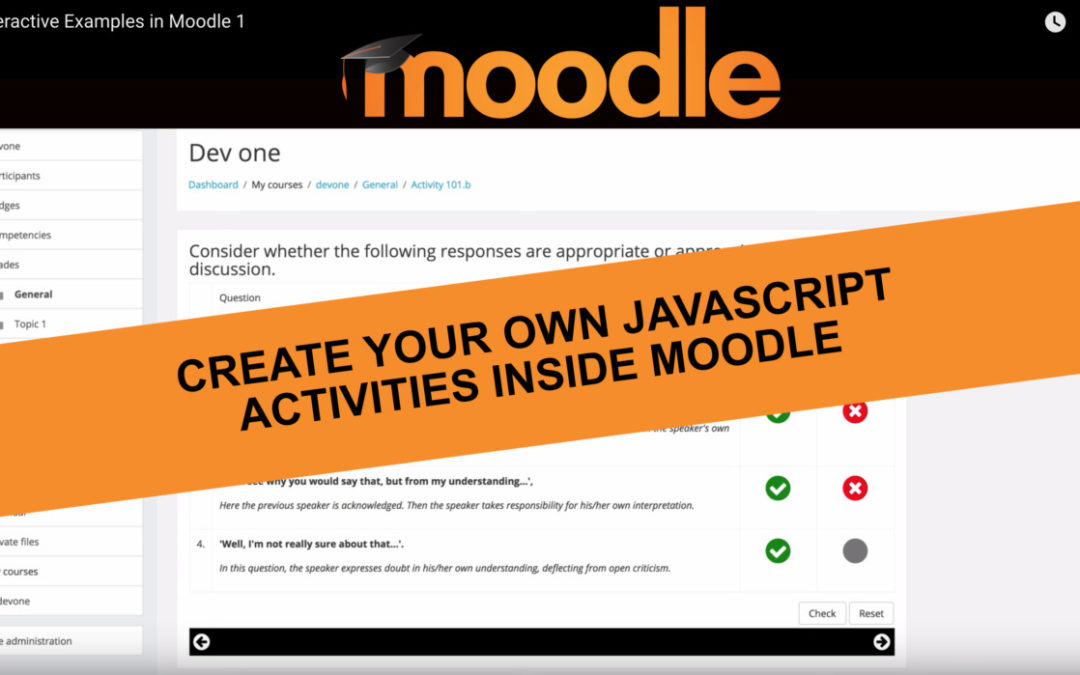 Interactive activities in Moodle Examples