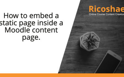 How to embed a static page inside a Moodle content page
