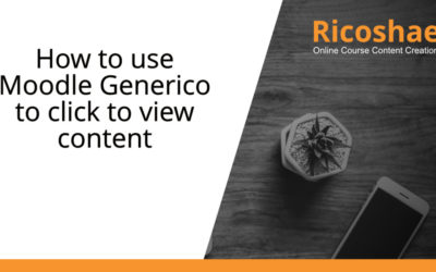 How to use Moodle Generico to click to view content