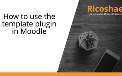 How to use the template plugin in Moodle