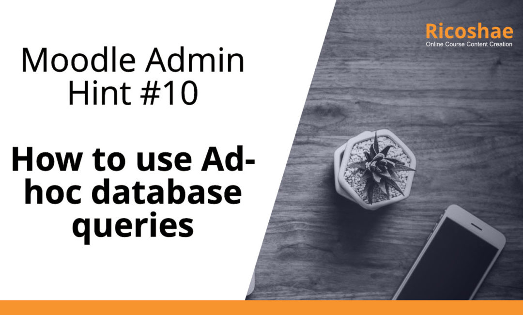 Moodle admin hint #10 How to use Ad-hoc database queries