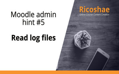 Moodle admin hint #5 Read log files