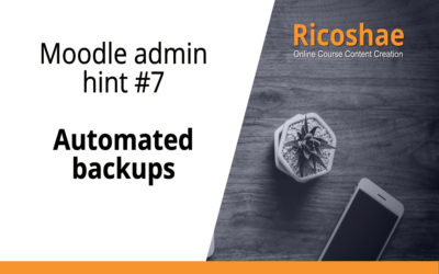 Moodle admin hint #7 Automated backups