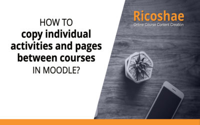 How to copy individual activities and pages between courses in Moodle