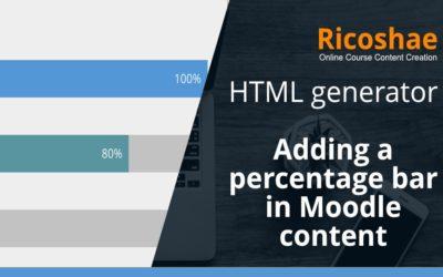 Percentage bar generator for Moodle